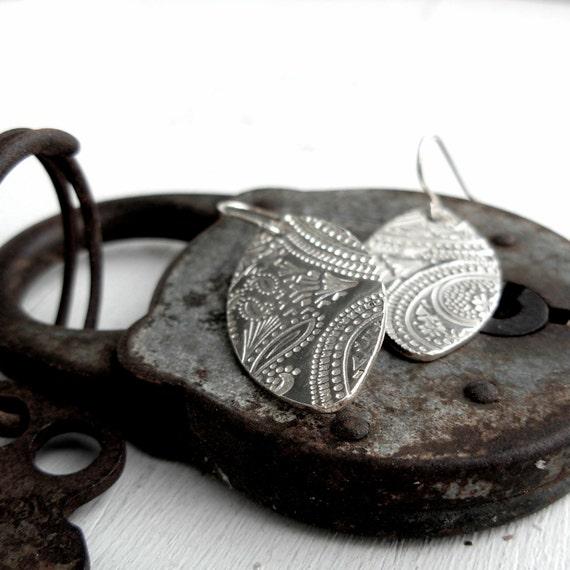 Meditation Earrings - Fine Silver