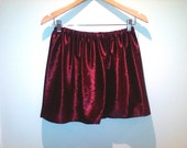 Velvet maroon  high waisted skirt