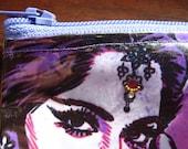 Purple Bollywood Vinyl Zipper Coin Purse