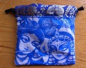 Blue Krishna & Radha Drawstring Bag