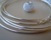 Hoops, Earrings Findings,thin hoop for Basketball Wives Earrings 8pairs of Lt.Silver color 90mm