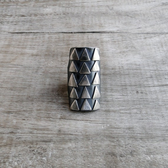 Adjustable Sterling Silver Aztec Ring