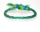 RESERVED-Friendship Bracelets -  Green & Blue / Green and Pink