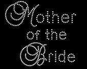 Custom Crystal Rhinestone Mother of The Bride Tshirt
