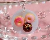 Mini donuts necklace