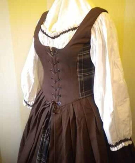 Items Similar To Women's Renaissance Gown Brown Celtic
