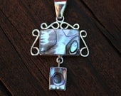 Sterling Silver Handcrafted Abalone Inlay Pendant