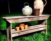 Re-purposed Wood Garden Bench