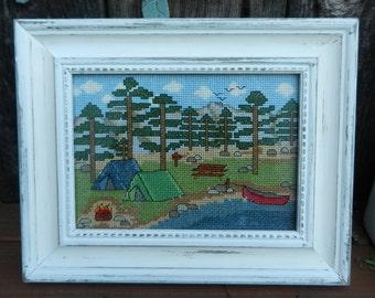 PDF PATTERN - Camping by the Lake - Counted Cross Stitch