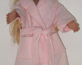18 inch Doll Clothes   Pink Flannel Wrap Robe  American Girl