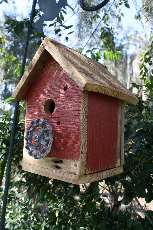 Reclaimed barn woods and repurposed spigot birdhouse for Types of birdhouses