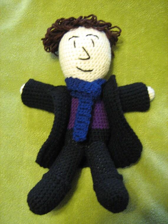BBC Sherlock Holmes crochet doll