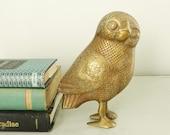 Vintage Brass Owl Matte Finish