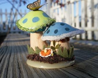 Mushroom Sculpture pair of mushrooms Christmas Birthday Gift home decor seasonal decor