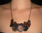 Bakelite Button Necklace -upcycled art deco delish OOAK