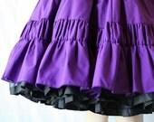 Rockabilly Skirt / Circle Skirt / Deep Purple / Dance FUN