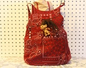 Purse, lunch bag, or toy bag - versatile and adorable bandana look