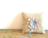 Ring Bearer pillow, Something Blue. Eco Wedding