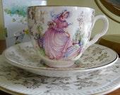 Vintage Tea Cup Candle Trio Set