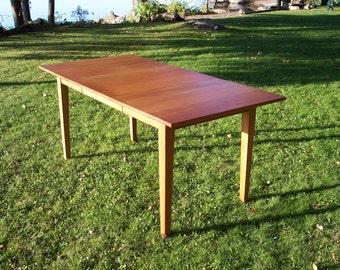 "Solid Cherry Dining Table with Leaf 64"" long 32"" wide"