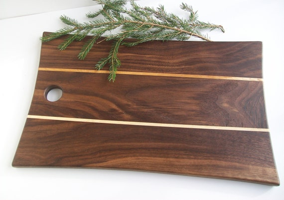 Cutting Board in Black Walnut and Vermont Maple