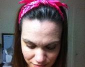Custom- Retro Rockabilly Bandana Headband- Custom