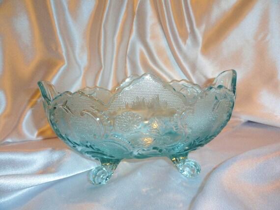 Aqua Blue Depression Glass