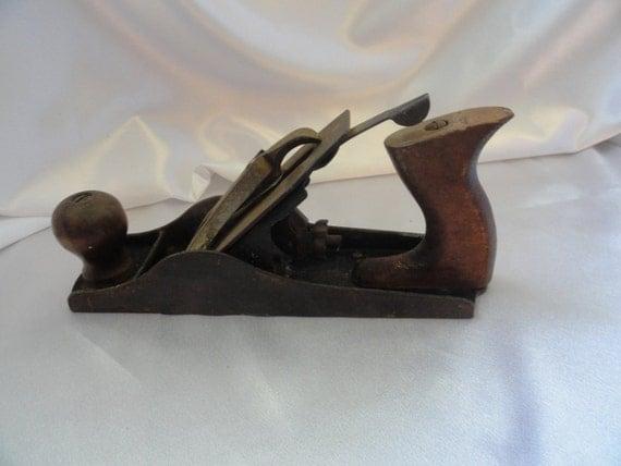 Vintage Iron Craftsman Wood Plane Rare Hand By
