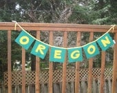 Oregon Ducks Green and Yellow School Spirit or Tailgating Decoration - Bunting Flags (Set)
