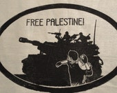 FREE PALESTINE- Political patch, Anarchist, soldarity
