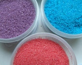 Rimming, Dusting, Or Sanding Sugar Pink, Purple And Blue