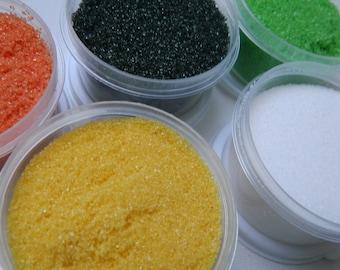 Dusting, Sanding, Or Rimming Sugar Kit Set Of 5 Colors  NATURE