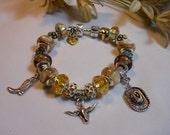 The Golden Cowgirl Pandora Style Bracelet