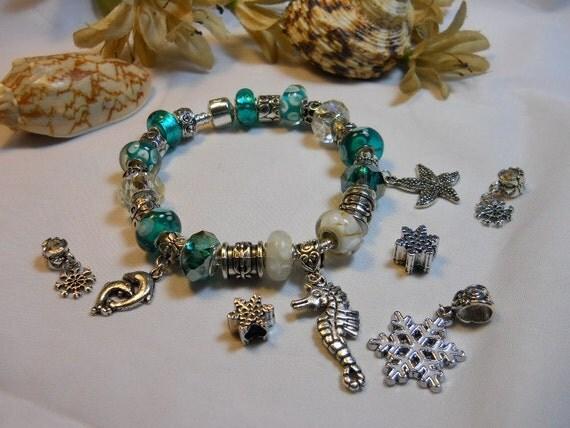 Seasonal 2 in 1 Aqua Pandora Style Bracelet