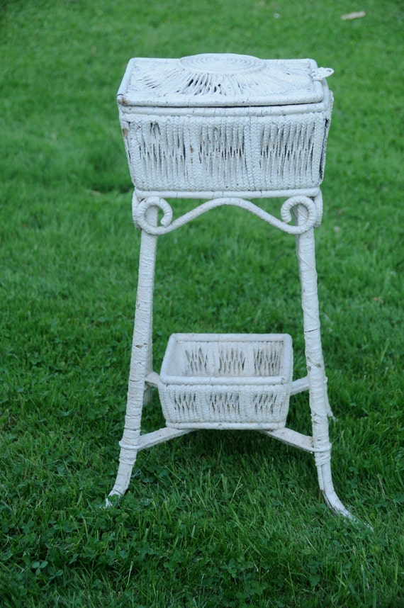 Antique Wicker Basket Stand White Wicker Plant Stand Lidded Basket Stand