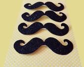 Glitter Stick on Moustache Pack of 4