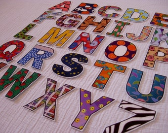PDF - ABC Alphabet & Number fridge magnets / cut outs / felt board letters - Printable DIY