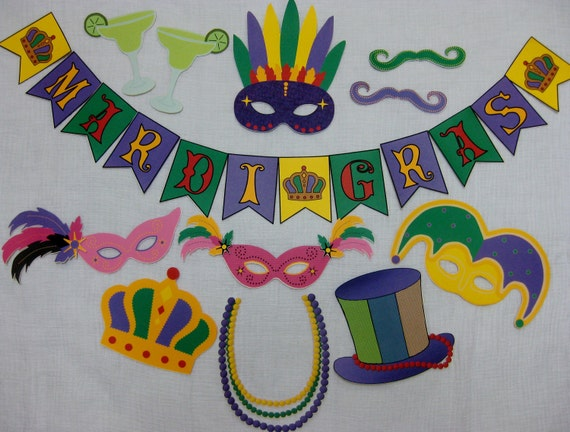 Pdf mardi gras photo booth props decorations craft for Art et decoration pdf