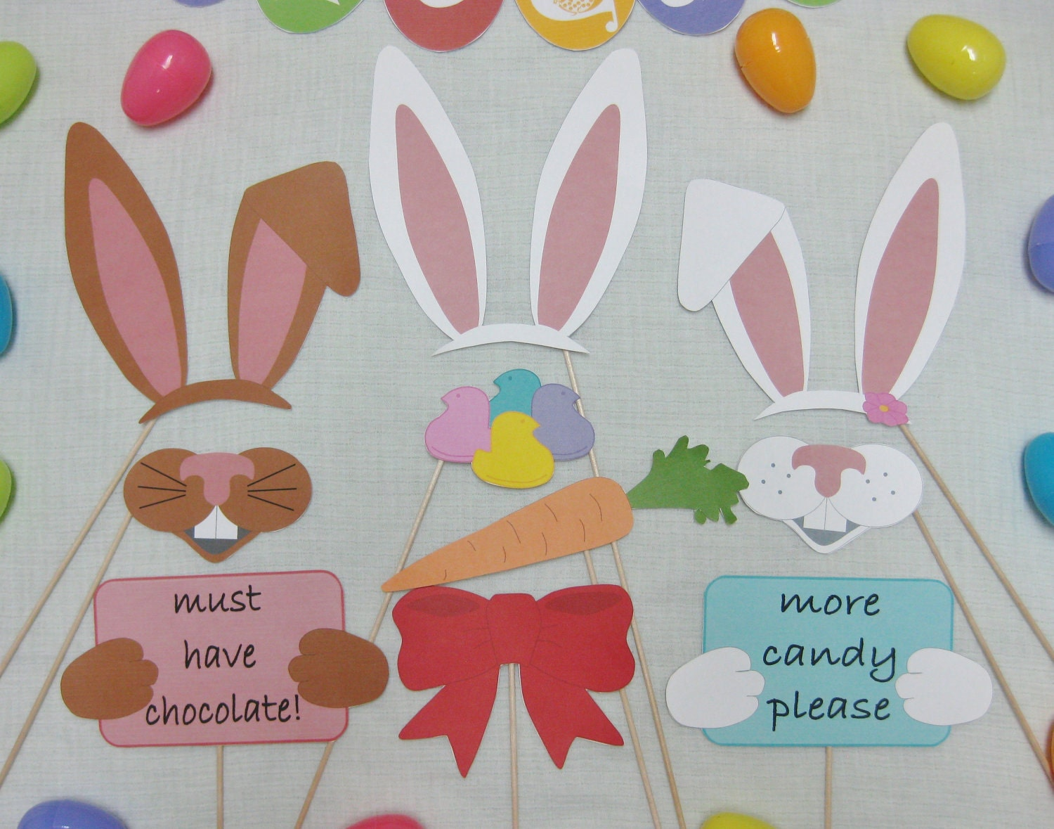 pdf easter photo booth props decorations craft printable