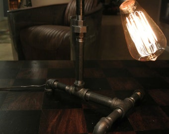 IronPipeLight Industrial Table Lamp