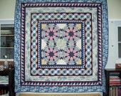 Blue Medallion Style Quilt