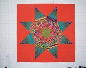 Mod Lone Star Quilted Wall Hanging