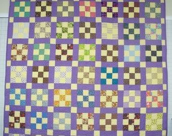 Vintage 9-Patch Quilt