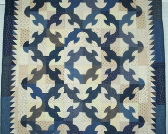 Drunkard's Path Variation Quilt