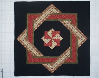 Interlocking Squares Quilted Wall Hanging