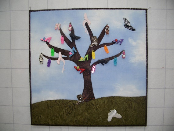 Shoe Tree Wall Quilt
