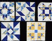 5 - 12X12 quilt blocks