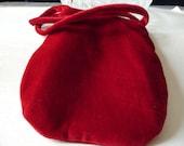 1960s Evening Bag Vintage Red Velvet  Shabby Wedding  Victorian Engagement......by Mississippi Delta Treasures