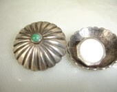 STERLING CUFF Links Studs 1940s Turquoise Mother of Pearl Mexican Silver Southwestern......by Mississippi Delta Treasures