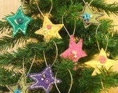 40% off sale. Star Felt Ornaments. YOU CHOOSE 3. Bead and Button Detail by ROYSheadphones.